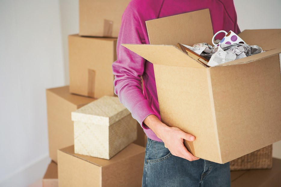 Verhuizen - dozen spullen